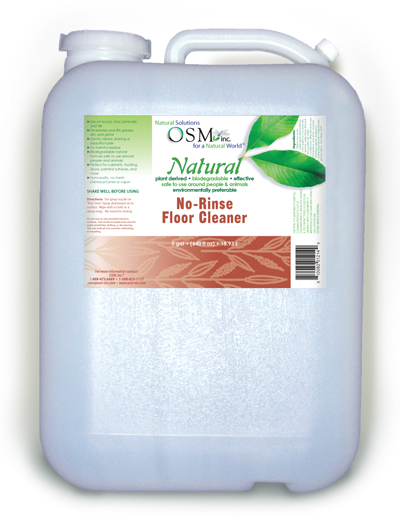 Osm natural floor cleaner 5 gallon for Organic concrete cleaner